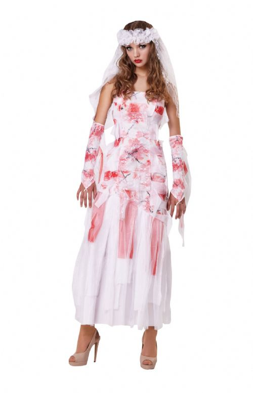 Ladies Grave Bride Halloween Costume Trick Or Treat Fancy Dress Outfit